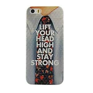 YXF Flower Tie Design Pattern Hard Case for iPhone 5/5S