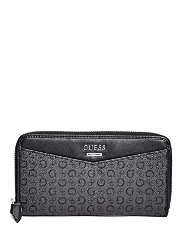 Guess Factory Women's Diem Logo Print Zip-Around Wallet ()