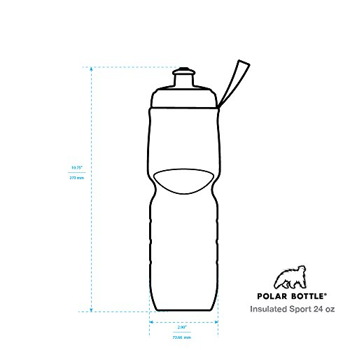 Polar Bottle Insulated Water Bottle (24-Ounce) (Carbon Blue)
