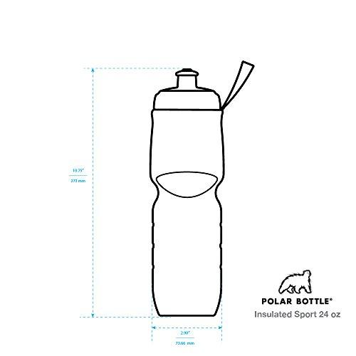 Polar Bottle Insulated Water Bottle (24-Ounce) (Carbon Blue)
