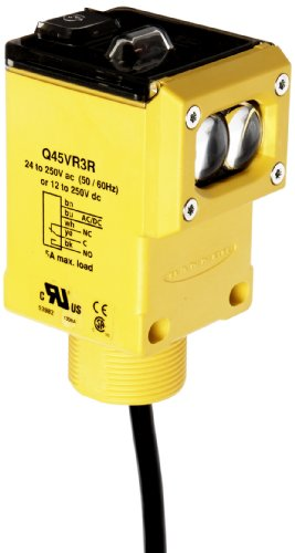 - Banner Q45VR3R Sensor, Opposed Mode Emitter and Receiver, SPDT  Output Type, 60m Range, 5 Wires, Universal 12-250VDC or 24-250VAC Supply Voltage, 2m Cable Length