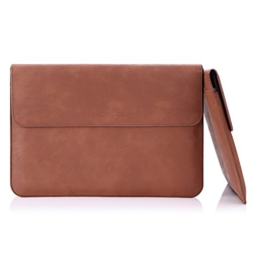 MoKo 13.5 Inch Sleeve Bag, PU Leather Protective PC Notebook Carrying Case Cover for Surface Laptop/Surface Book 2 13.5