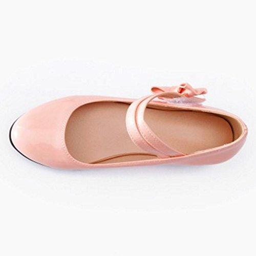 Fashion Women JOJONUNU Mary Shoes Pumps Jane Pink RxFSqwfd