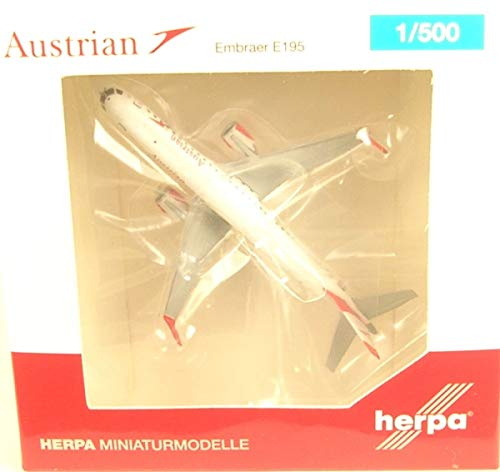 HERPA Wings 531641 Austrian Embraer E195 1/500 Scale Diecast Model