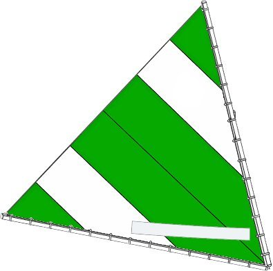 Sunfish Direct Sunfish Sail (Select Your Design) (Geen/White)