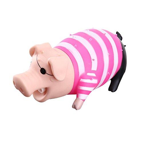 YJYdada Cute Shrilling Pig Squeaky Rubber Pig Toy