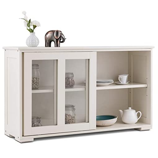 Farmhouse Buffet Sideboards Costzon Kitchen Storage Sideboard, Antique Stackable Cabinet for Home Cupboard Buffet Dining Room (Cream White with… farmhouse buffet sideboards