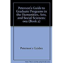 Grad Guides Book 2:Hum/Arts/Soc Sci 1996