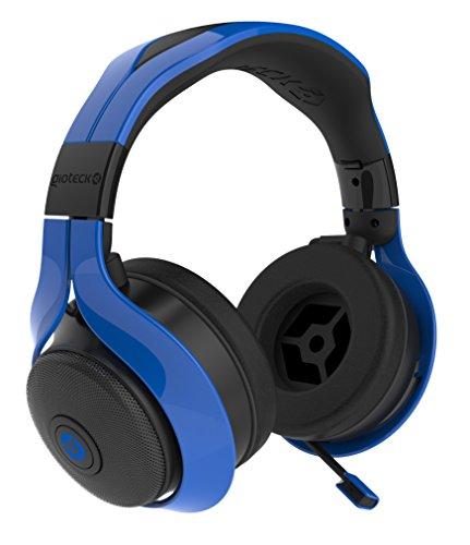 Gioteck FL-300 Wired Stereo Headset with Removable Bluetooth Speakers - Blue by Gioteck (Image #2)