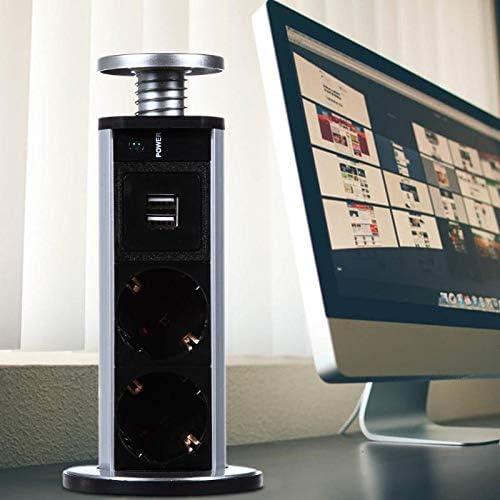 Power 2 charge USB EU Plug 3 4 5 6 Hidden Kitchen Table Pop Up Electrical Socket