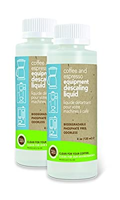 Full Circle Coffee and Espresso Equipment Descaling Liquid, 4 oz - 2 Single Use Bottles from Urnex/Full Circle Co