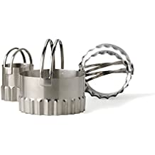 RSVP Stainless Steel Round Biscuit Cutters with Fluted Edge, Set of 4