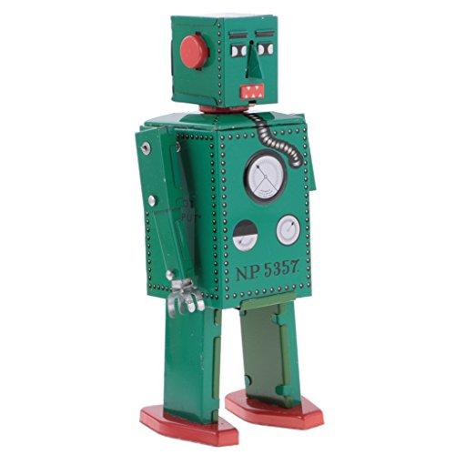 Jili Online 3PCS Vintage Tin Toy Mechanical Clockwork Lilliput Robot Collectible Models by Jili Online (Image #9)