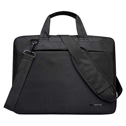 - Value-5-Star - Laptop bag case 12 inch Nylon airbag shoulder handbag computer bags Waterproof Messenger Women men Notebook bag Black No Airbag