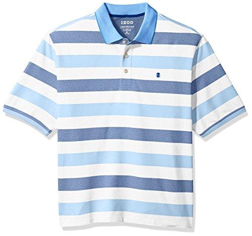 IZOD Men's Big Advantage Performance Stripe Polo, True Blue, 2X-Large (Stripe True Blues Shirt)
