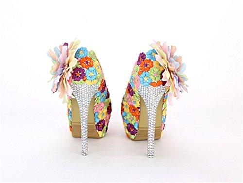 femme Multicolor compensée Heel 14cm 35 Miyoopark Semelle Multicolore pzE18q