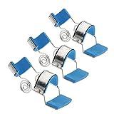 Homyl 3pcs Stainless Steel Padded Trigger Finger Splint Support Brace For Straighten Curved Bent Small Medium Large