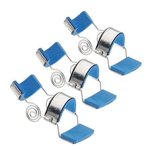 Homyl 3pcs Stainless Steel Padded Trigger Finger Splint Support Brace For Straighten Curved Bent Small Medium Large by Homyl