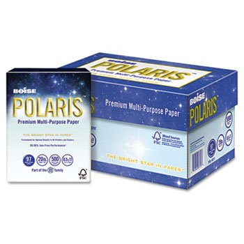 Boise POL8511 POLARIS Copy Paper, 8 1/2 x 11, 20lb White, 5000 Sheets/Carton