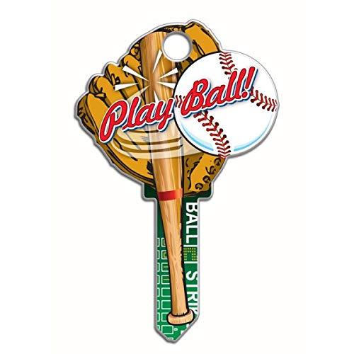 (Lucky Line Key Shapes, Baseball, House Key Blank, KW1/11, 1 Key (B120K))
