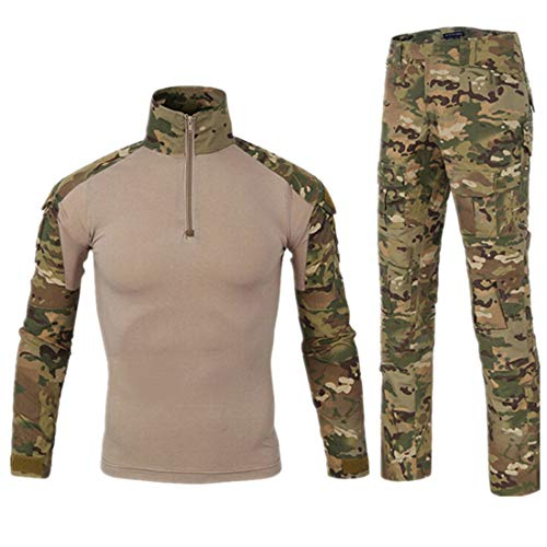 HARGLESMAN Military BDU Uniform Tactical Combat Training Suit (XXXL, Multicam)