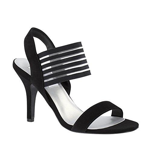 Dyeables 53916 Priscilla womens sandals, Black, Size - 7.5