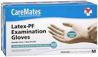 CareMates Latex-PF Examination Gloves Medium - 100ct, Pack of 2