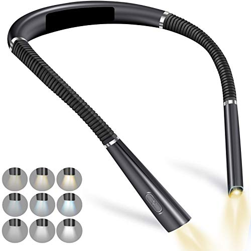 luz de lectura LED recargable para el cuello