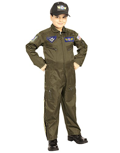 Kid Air Force Fighter Pilot Top Gun Halloween Costume M Boys Medium (5-7 years)