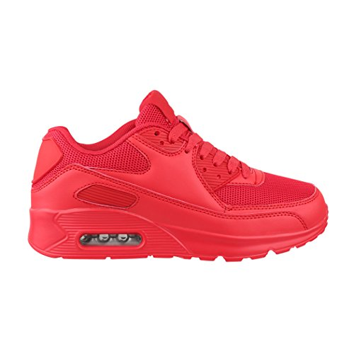 Unisex Sneaker Sport Laufschuhe Damen Red Chunkyrayan Turnschuhe Herren Elara Durban wCqtIx