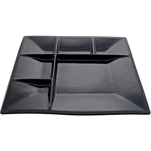 Swissmar F66104 Square Raclette/Fondue Plates, Black, Set...