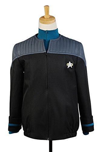 Ya-cos Men's Suit Jack+Pants+Shirt Nemesis Uniform Costume 3 Colors (Star Trek Voyager Costume)