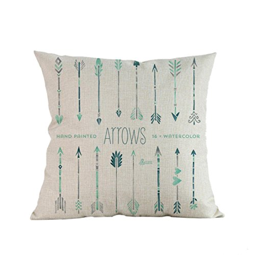 Price comparison product image Pillow Cases, Lavany Pillow Covers Arrow Printing With Words Pillowcases Cushion Sofa Home Decorative (B)