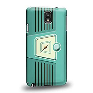 Case88 Premium Designs Turquoise RADIO 0800 Protective Snap-on Hard Back Case Cover for Samsung Galaxy Note 3