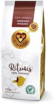 Café, Torrado em Grãos, Rituais Cerrado Mineiro, Pacote, 250g, 3 Corações