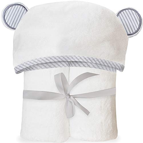 Ultra Soft Bamboo Hooded Baby Towel – Hooded Bath Towels with Ears for Babies, Toddlers – Large Baby Towel – Cute for Boys and Girls by San Francisco Baby