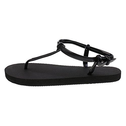 Gazechimp Zapatos de Mujer Sandalias Casual de Playa Fiesta Zapatillas Chicas Accessories de Moda Negro