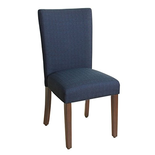 HomePop Parsons Classic Upholstered Accent Dining Chair, Single Pack, Dark Blue ()