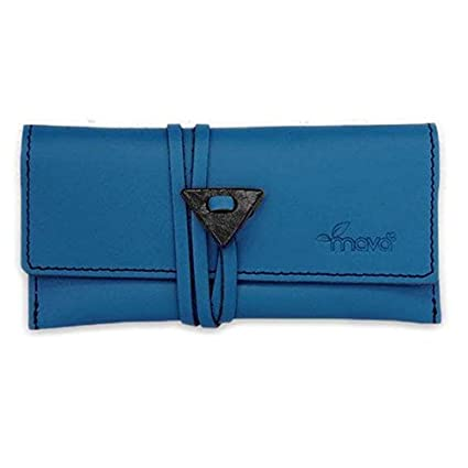 Bolsa para tabaco de liar en piel azul Mavà: Amazon.es ...