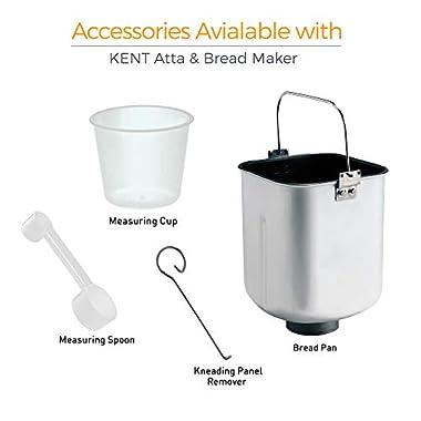 KENT - 16010 Atta and Bread Maker 550-Watt (Steel Grey) 9