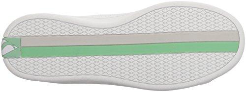 Skechers Donne Menta Bianca Darma Perforata In Pelle Sneaker