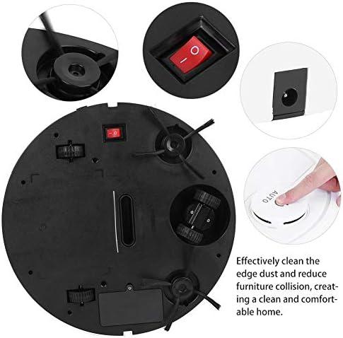 FOTABPYTI Aspirateur Robot, aspirateur robotique de Charge USB, Robot de Balayage Intelligent Tactile, pour Poils d\'animaux, Tapis, sols durs