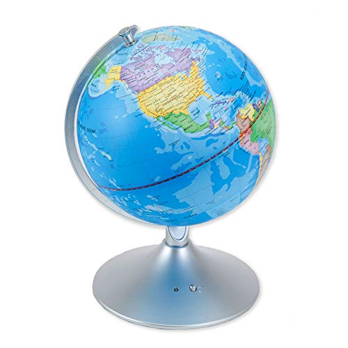 Bits and Pieces - Constellation Globe - 14 inch Illuminated Globe - Earth and Star Constellations - Great Gift for a Young Astronomer - 2-in-1 World Globe and Constellation (Earth Globe Electronic)