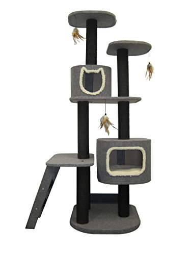 Penn Plax Cat Tower 5-Level Climbing Tree, Includes Hideaway
