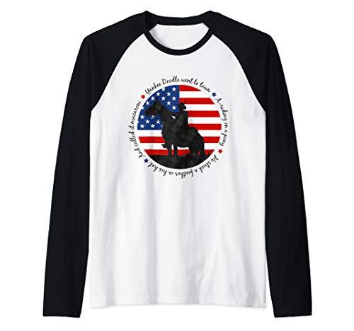 Yankee Doodle Patriotic popular American Song July 4th horse Raglan Baseball Tee ()