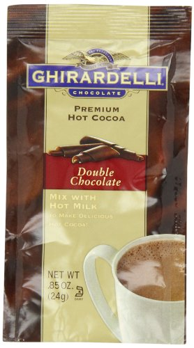Ghirardelli Chocolate Premium Hot Cocoa, Double Chocolate, 0.85-Ounce Packets (Pack of 12)