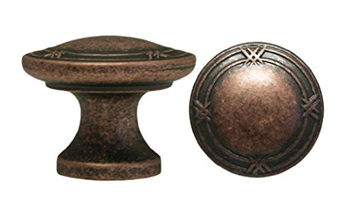 Sportslady Antique Copper Ribbon & Reed Kitchen Cabinet Drawer Knobs Pulls 3