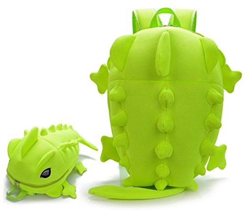 OSdream Breathable Mesh Cotton Dinosaur Monster Backpack/students Backpacking Packs for Men and Women (green)