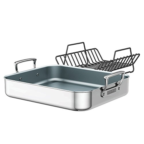 ZWILLING J.A. Henckels Polished Stainless Steel Ceramic Nonstick Roasting Pan by ZWILLING J.A. Henckels
