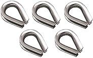 """MarineNow Stainless Steel 316 Rope Thimble Marine Grade 5/16"""", 3/8"""", 1/2"""", 5/8"""", 3/4"""""""
